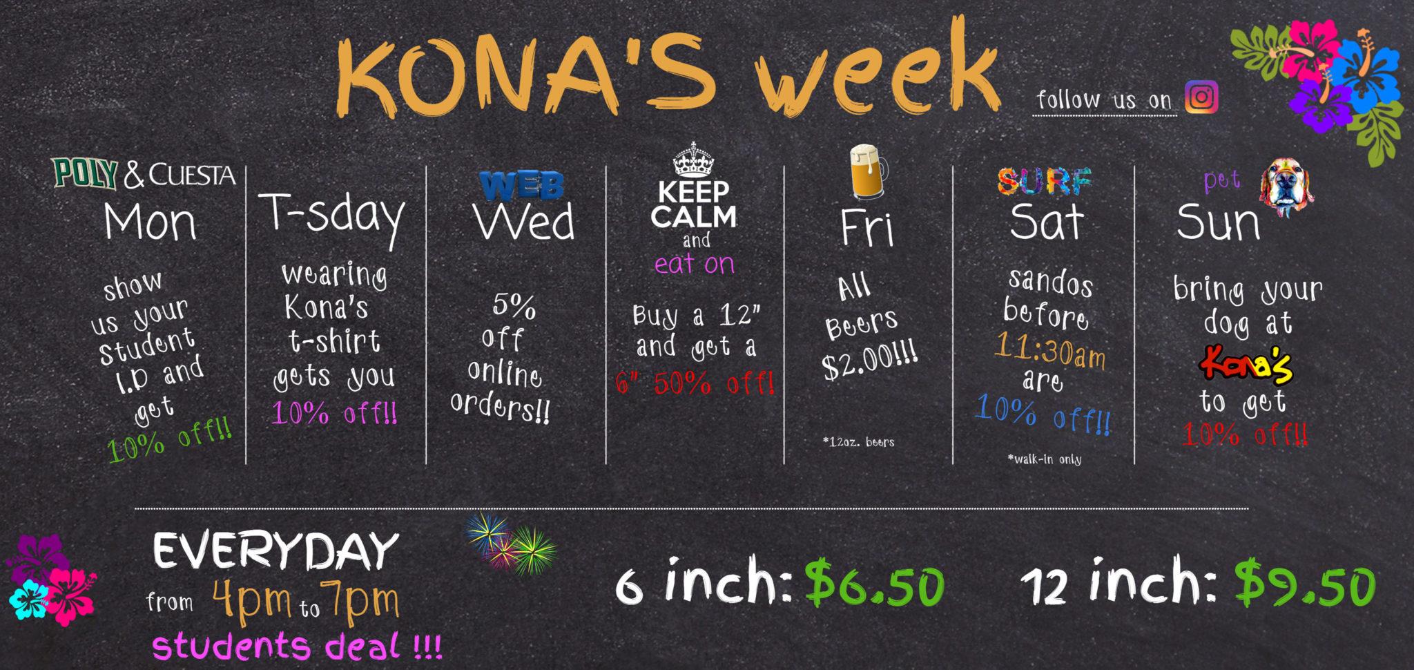 Weekly Deals!!